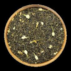 Китайский чай крупнолистовой зеленый c цветочками жасмина