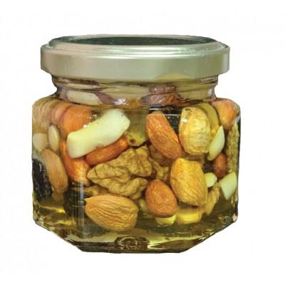 Мёд ореховое ассорти ячейка